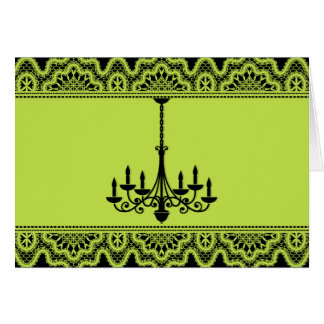 Tarjeta Lámpara verde de neón
