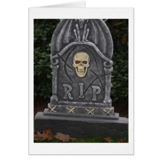 Tarjeta Lápida mortuoria de R.I.P - fotografía