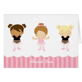 Tarjeta Las bailarinas rosadas le agradecen las notas