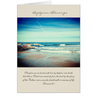 Tarjeta Las bendiciones del bautismo, cristiano doblaron