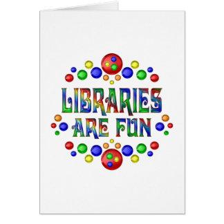 Tarjeta Las bibliotecas son diversión