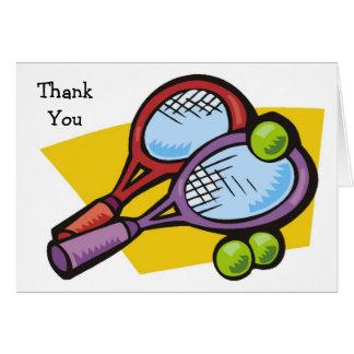 Tarjeta Las bolas de las estafas de tenis le agradecen las