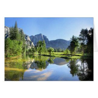 Tarjeta Las cataratas de Yosemite del río de Merced -