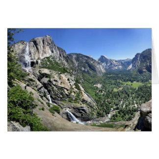 Tarjeta Las cataratas de Yosemite y media bóveda oh de mi