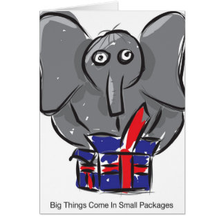 Tarjeta Las cosas grandes vienen en pequeños paquetes