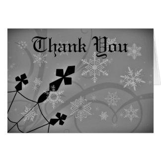 Tarjeta Las cruces góticas del navidad le agradecen