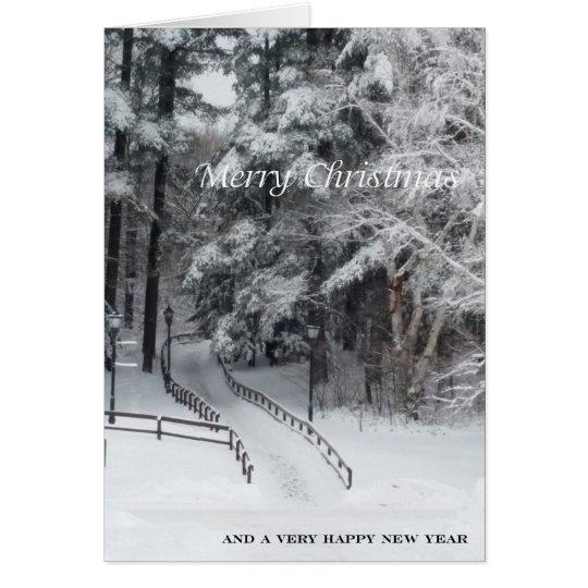 Tarjeta Las Felices Navidad de ADKs… el camino viajaron