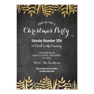 Tarjeta Las Felices Navidad invitan al oro rústico y al