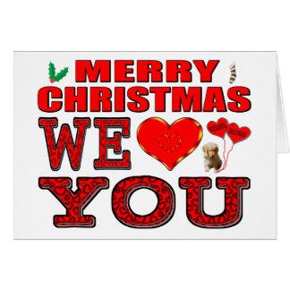 Tarjeta Las Felices Navidad le amamos