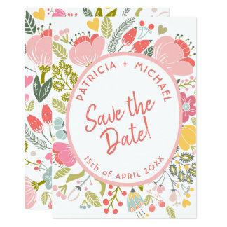 Tarjeta Las floraciones del prado del boda de la primavera