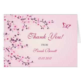 Tarjeta Las flores de cerezo florales le agradecen fiesta