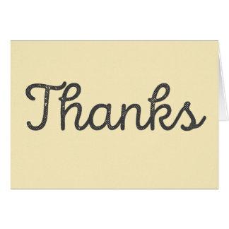 Tarjeta Las gracias, de que eran agradables