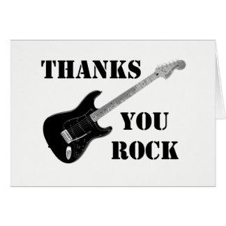 Tarjeta Las gracias usted oscila Black&whiteThank usted