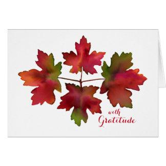 Tarjeta Las hojas de la caída del arce del otoño le