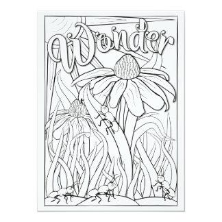 Tarjeta Las hormigas y las flores de la maravilla de los
