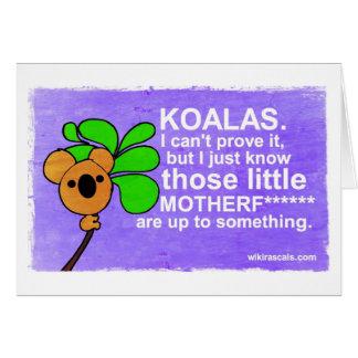Tarjeta Las koalas están hasta algo