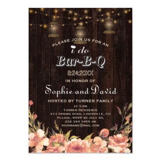 Tarjeta Las linternas viejas de madera florales de Boho