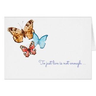 Tarjeta Las mariposas están libres