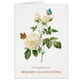 Tarjeta Las mariposas y el entierro de los rosas blancos