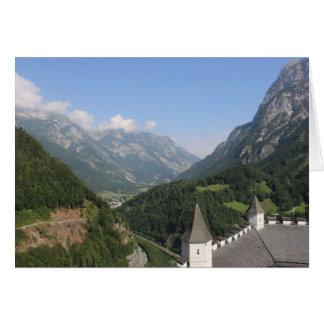 Tarjeta Las montañas austríacas acercan a Werfen