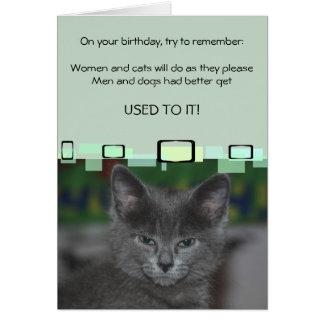 Tarjeta Las mujeres y los gatos harán como ellas por favor