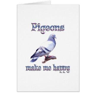 Tarjeta Las palomas me hacen feliz