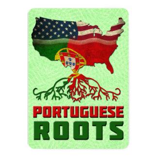 Tarjeta Las raíces americanas portuguesas invitan