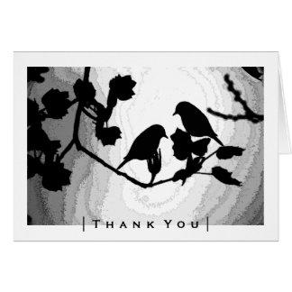Tarjeta Las siluetas góticas de los pájaros del amor le