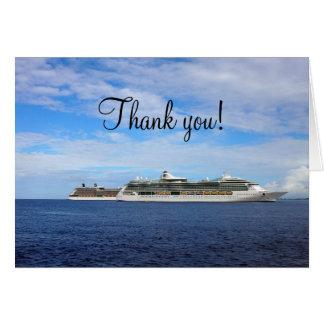 Tarjeta Las vacaciones el   del barco de cruceros náutico