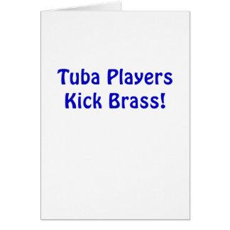Tarjeta Latón del retroceso de los jugadores de la tuba