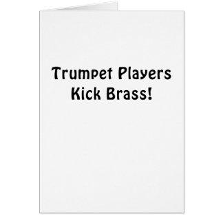 Tarjeta Latón del retroceso de los jugadores de trompeta
