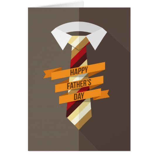 Tarjeta Lazo feliz del día de padre