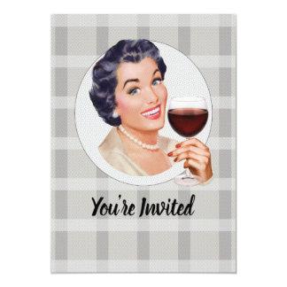 Tarjeta Le invitan a un fiesta del vino