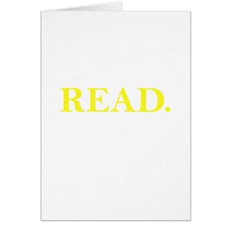 Tarjeta Leído