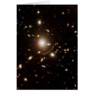 Tarjeta Lente gravitacional del telescopio espacial del