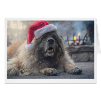 Tarjeta Leonberger Santa