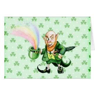 Tarjeta Leprechaun del día del ` s de St Patrick