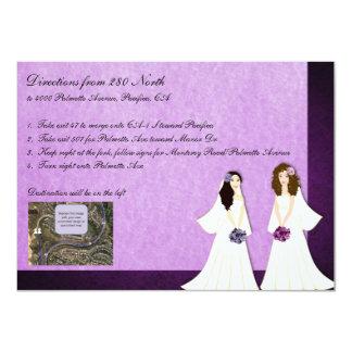 Tarjeta lesbiana de dos de las novias del boda invitación 11,4 x 15,8 cm