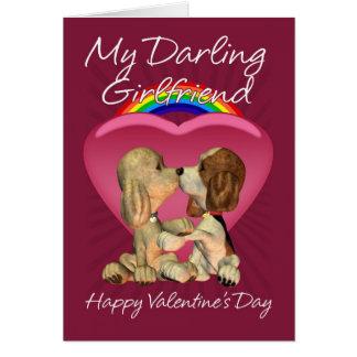 Tarjeta lesbiana del el día de San Valentín con do