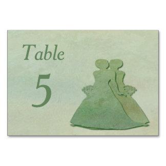Tarjeta lesbiana rústica de la tabla del boda de