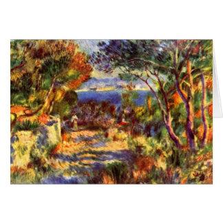 Tarjeta L'Estaque de Pedro Renoir, impresionismo del