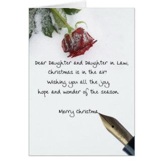 Tarjeta Letra del navidad de la hija y de la nuera