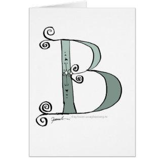 Tarjeta Letra mágica B del diseño tony de los fernandes