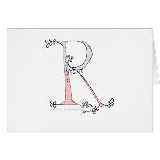 Tarjeta Letra mágica R del diseño tony de los fernandes