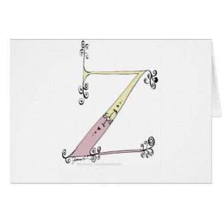 Tarjeta Letra mágica Z del diseño tony de los fernandes