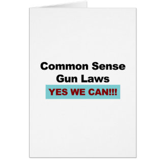 Tarjeta ¡Leyes del arma del sentido común - podemos sí!