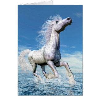 Tarjeta Libertad del caballo blanco - 3D rinden