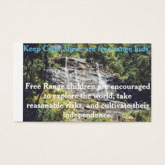 Tarjeta libre de los niños de la gama