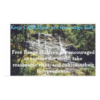 Tarjeta libre de los niños de la gama tarjetas de visita