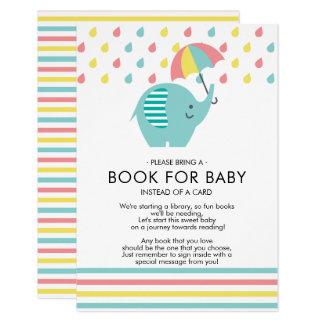 Tarjeta Libro de la fiesta de bienvenida al bebé del